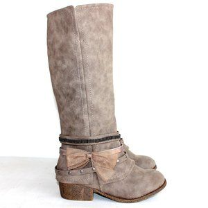 Jellypop Taupe Reading Riding Boot Girls Size 13